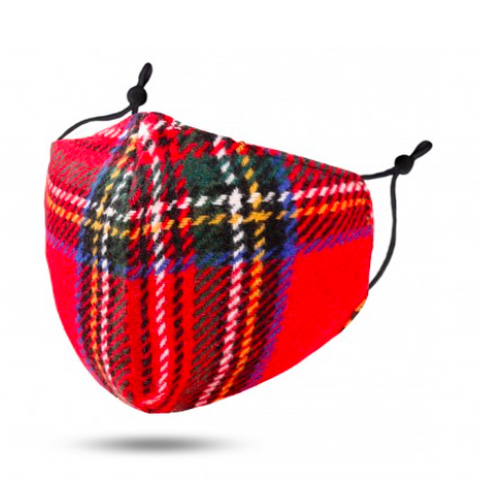 A photo of the Red Tartan Face Mask product