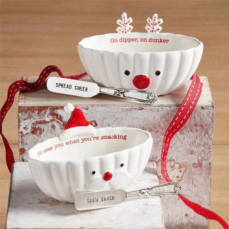 A photo of the Christmas Dip Bowl Set product
