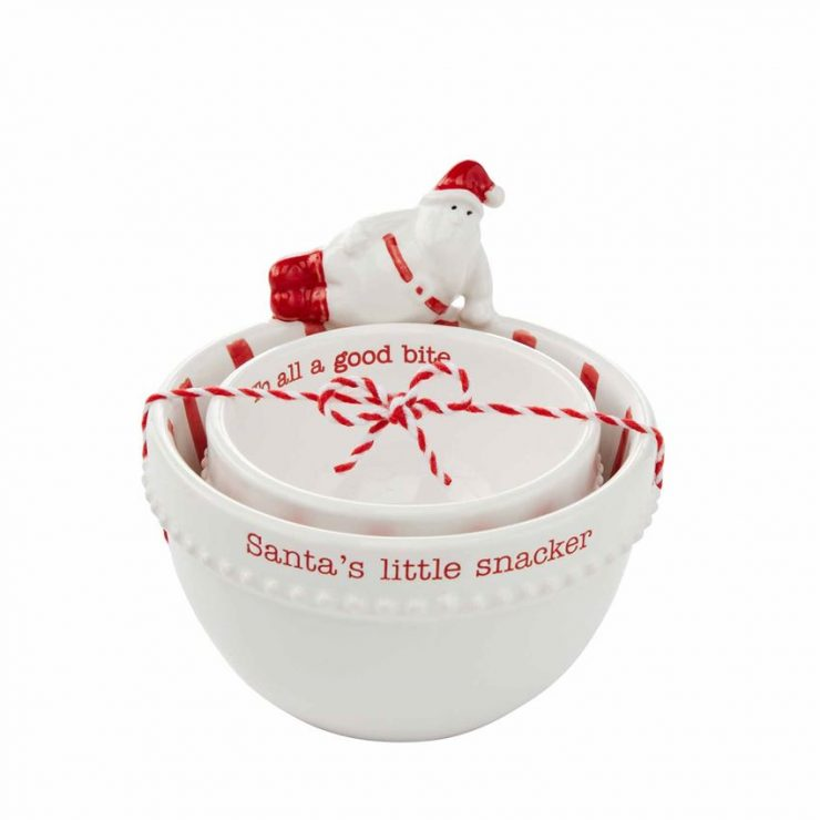 A photo of the Santa's Snacker Bowl Set product