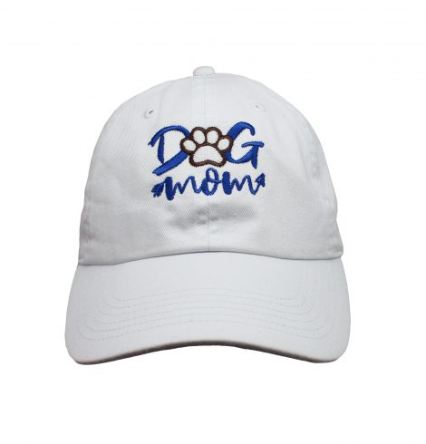 A photo of the Dog Mom Baseball Cap In White product