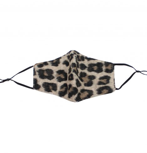 A photo of the Furry Leopard Face Mask product