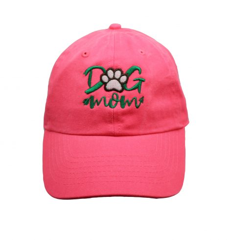 A photo of the Dog Mom Baseball Cap In Neon Pink product