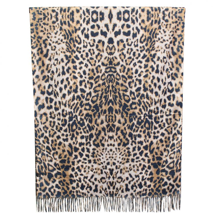 A photo of the Snake Print & Leopard Reversible Scarf product