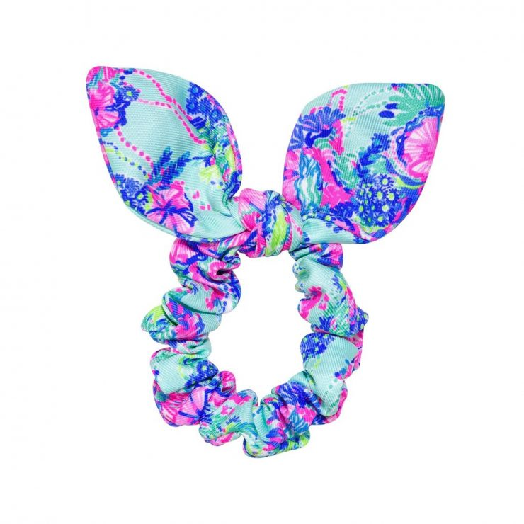 A photo of the Lilly Pulitzer Hair Scrunchie In Beach You To It product
