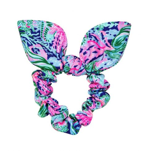 A photo of the Lilly Pulitzer Hair Scrunchie In Bringing Mermaid Back product