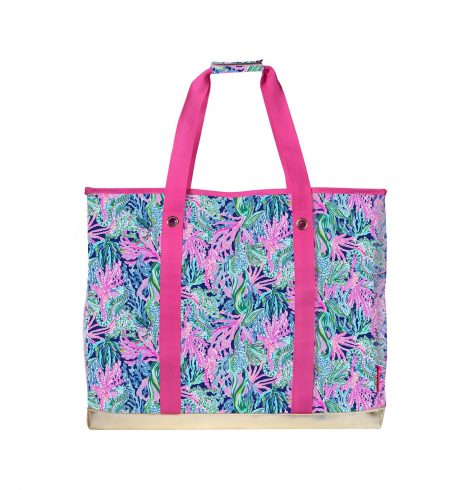 A photo of the Lilly Pulitzer Ultimate Carryall In Bringing Mermaid Back product