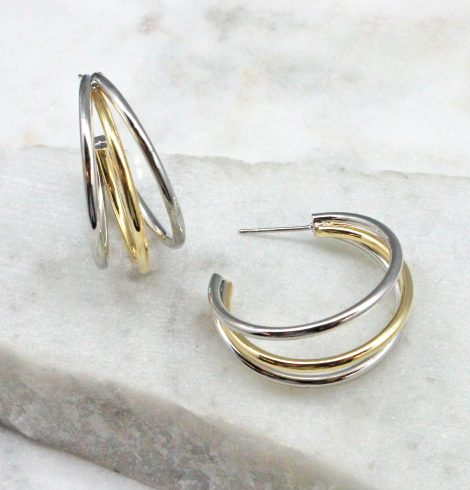 A photo of the Anya Hoop Earrings product