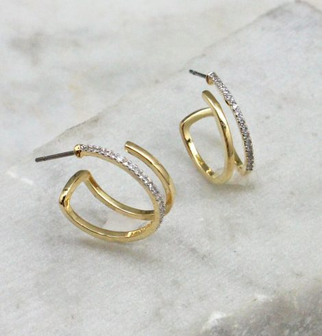 A photo of the Lucia Hoop Earrings product