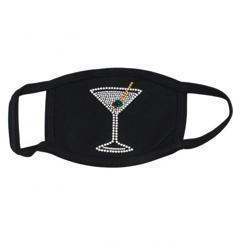 A photo of the Rhinestone Martini Face Mask product