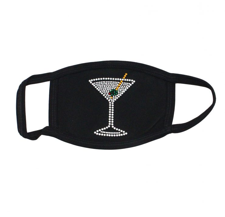 A photo of the Rhinestone Martini Face Mask product