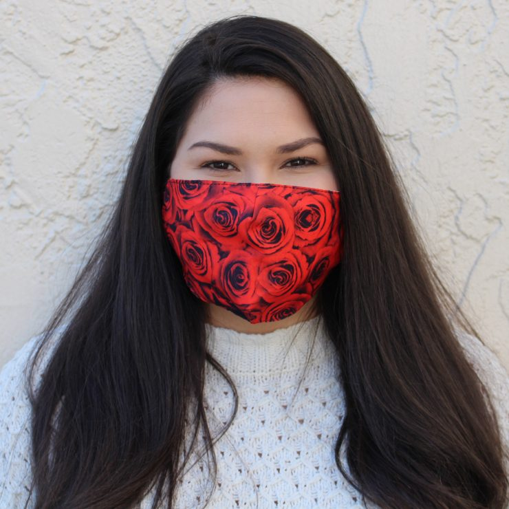 A photo of the Red Roses Face Mask product
