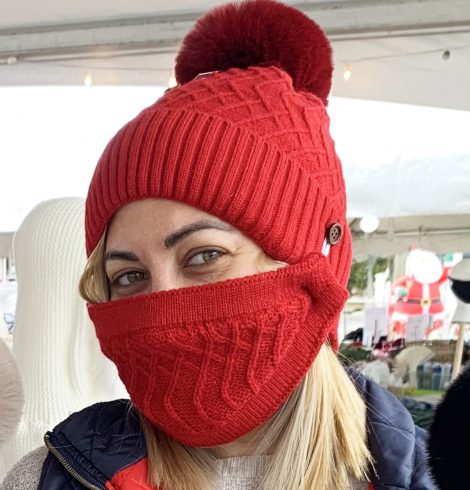 A photo of the Winter Beanie & Mask Set product