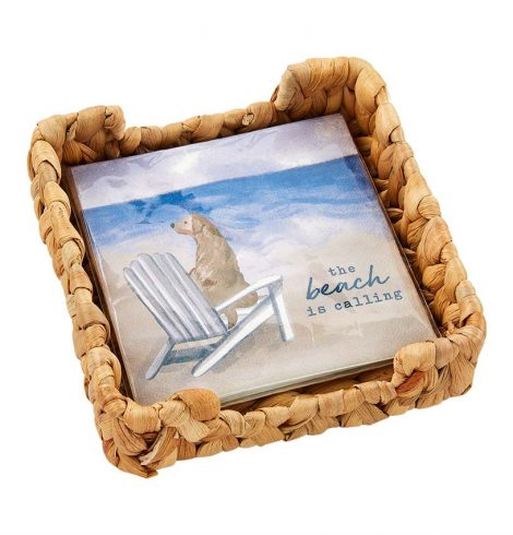 A photo of the Beach Napkin Basket Set product