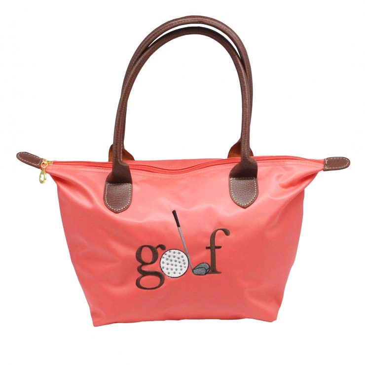 A photo of the Golf Nylon Tote In Coral product