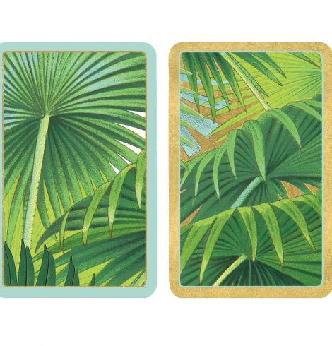 A photo of the Palm Fronds Playing Cards product