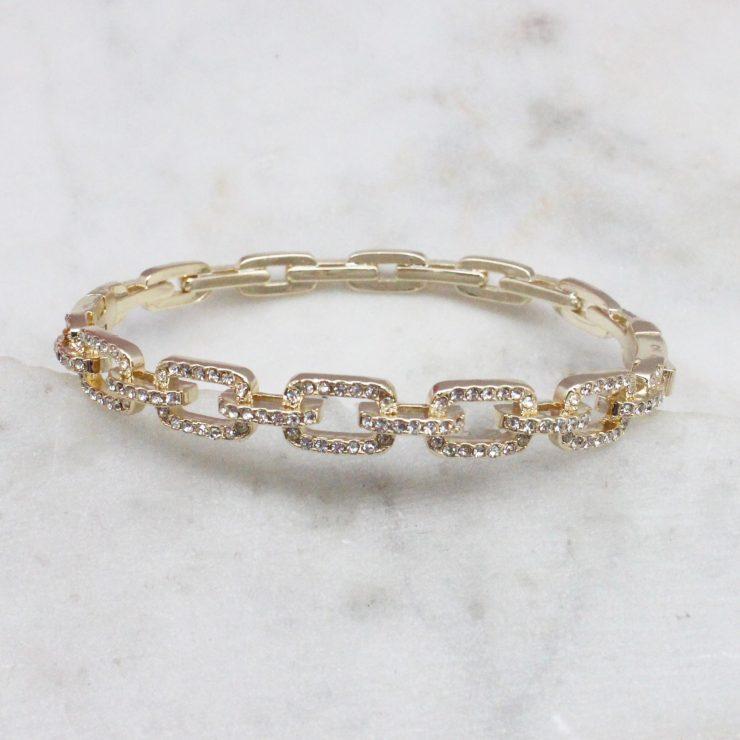 A photo of the Rhinestone Link Bracelet product