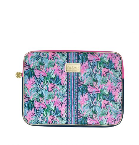 A photo of the Lilly Pulitzer Laptop Sleeve In Bringing Mermaid Back product