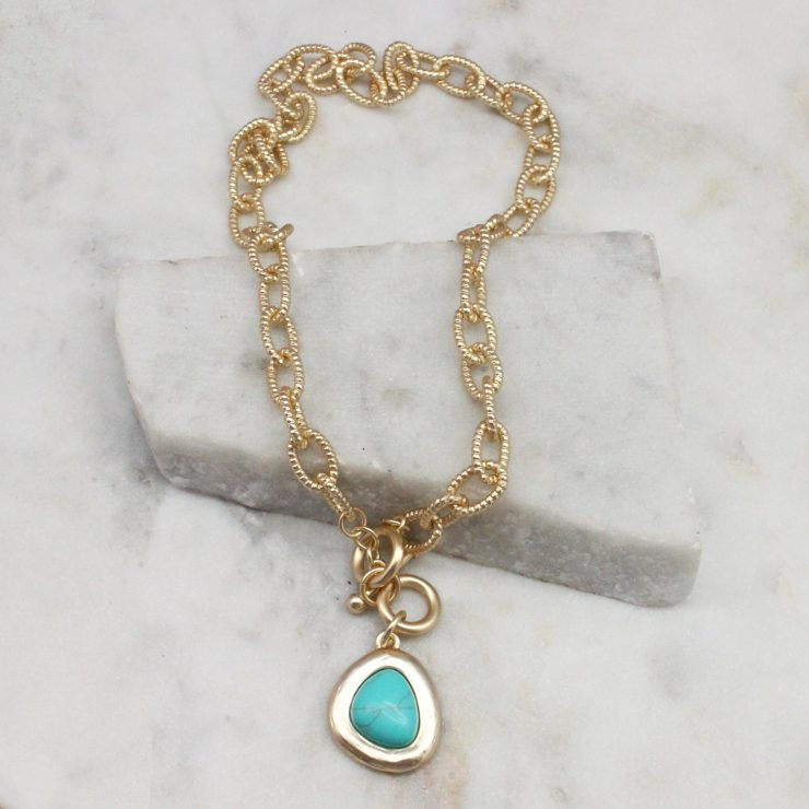 A photo of the Turquoise Dream Necklace product