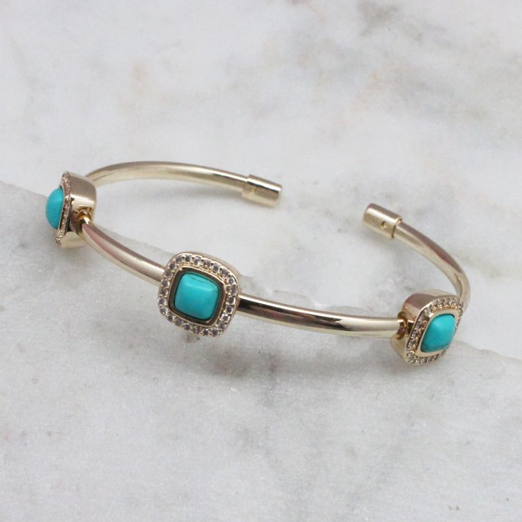 A photo of the Turquoise Square Bracelet product