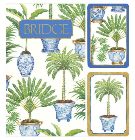 A photo of the Potted Palms Large Type Bridge Gift Set product