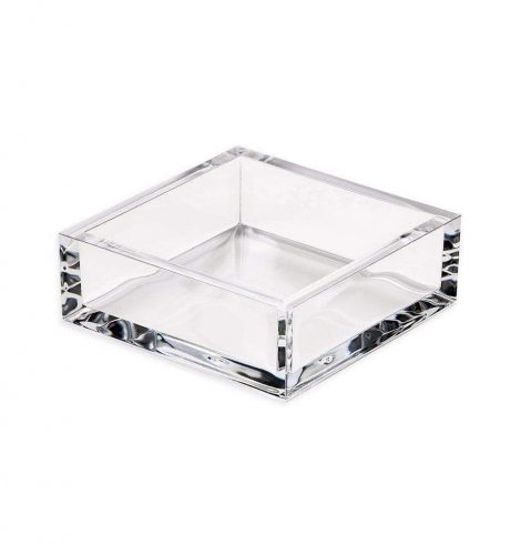 A photo of the Acrylic Cocktail Napkin Holder In Clear product