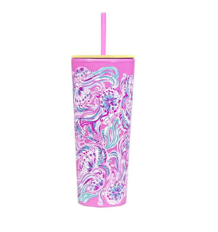 A photo of the Lilly Pulitzer Tumbler With Straw In Don't Be Jelly product