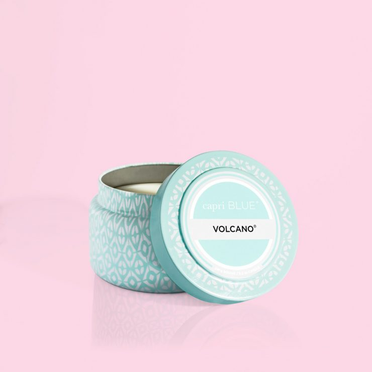 A photo of the Volcano Aqua Printed Travel Tin product