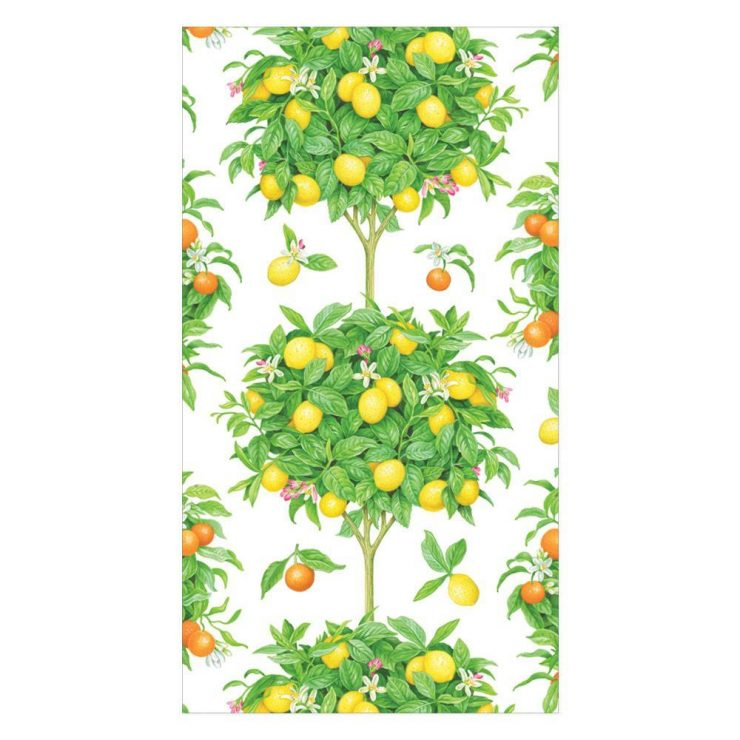 A photo of the Citrus Topiaries Guest Towel Napkins product
