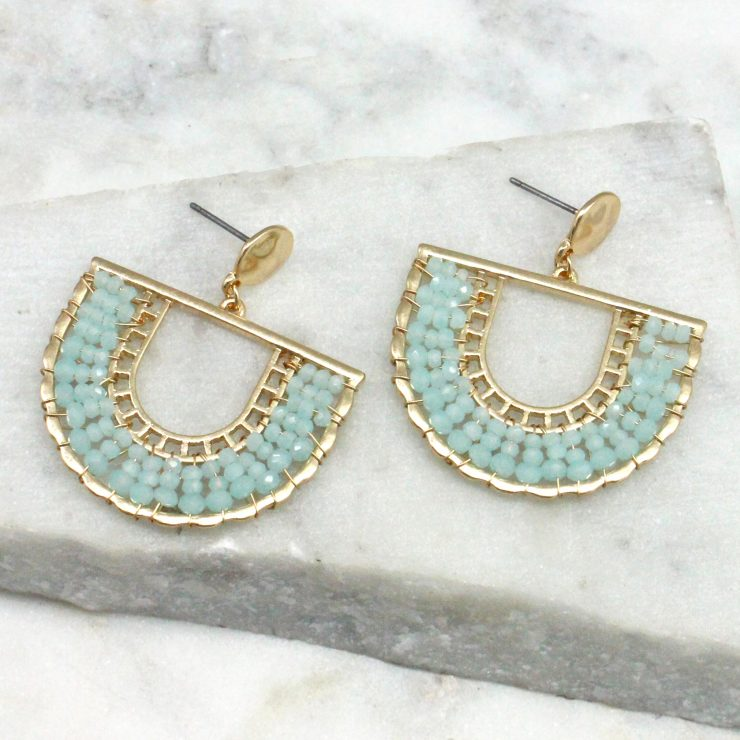 A photo of the Jasmine Earrings In Baby Blue product