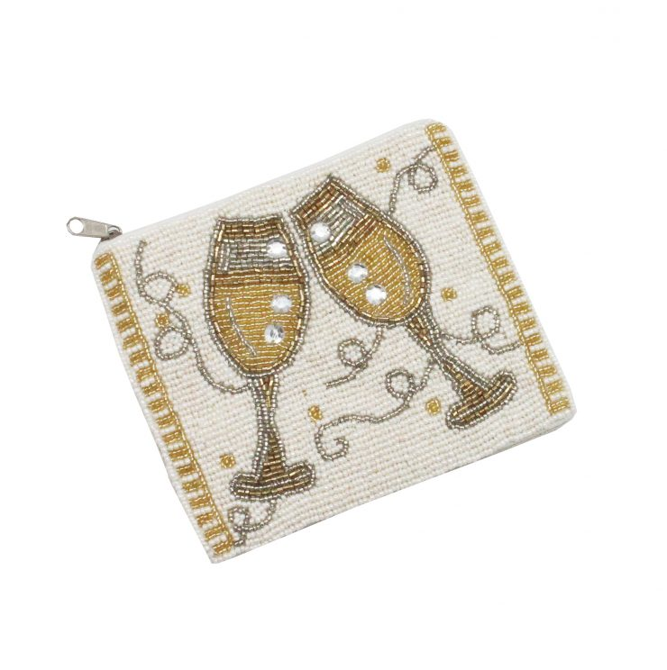 A photo of the Beaded Champagne Pouch product