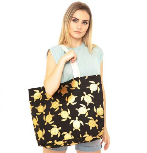 A photo of the Sea Turtle Tote In Black product