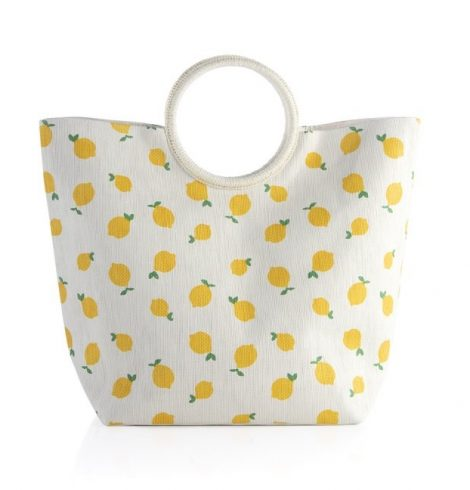 A photo of the Capri Tote In Yellow product