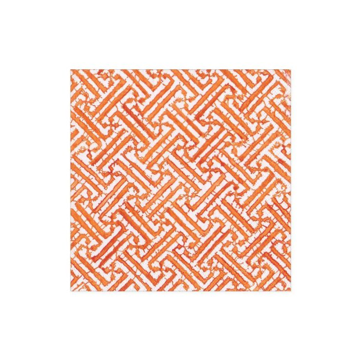 A photo of the Fretwork Cocktail Napkins in Orange product