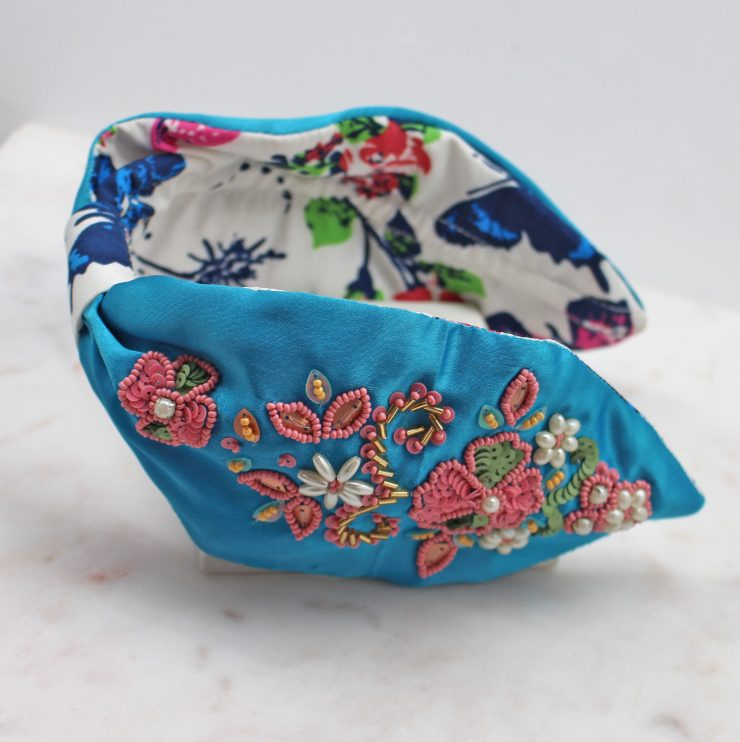 A photo of the Floral Beaded Headband product