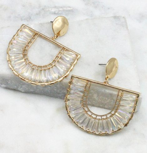 A photo of the The Angela Earrings In Iridescence product