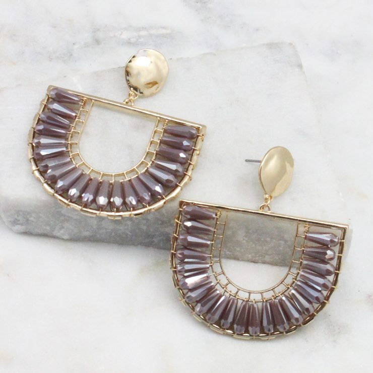 A photo of the The Angela Earrings In Purple product