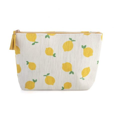 A photo of the Capri Zip Pouch In Yellow product