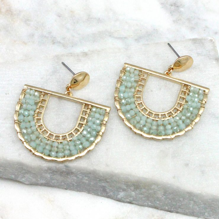 A photo of the Jasmine Earrings In Mint product