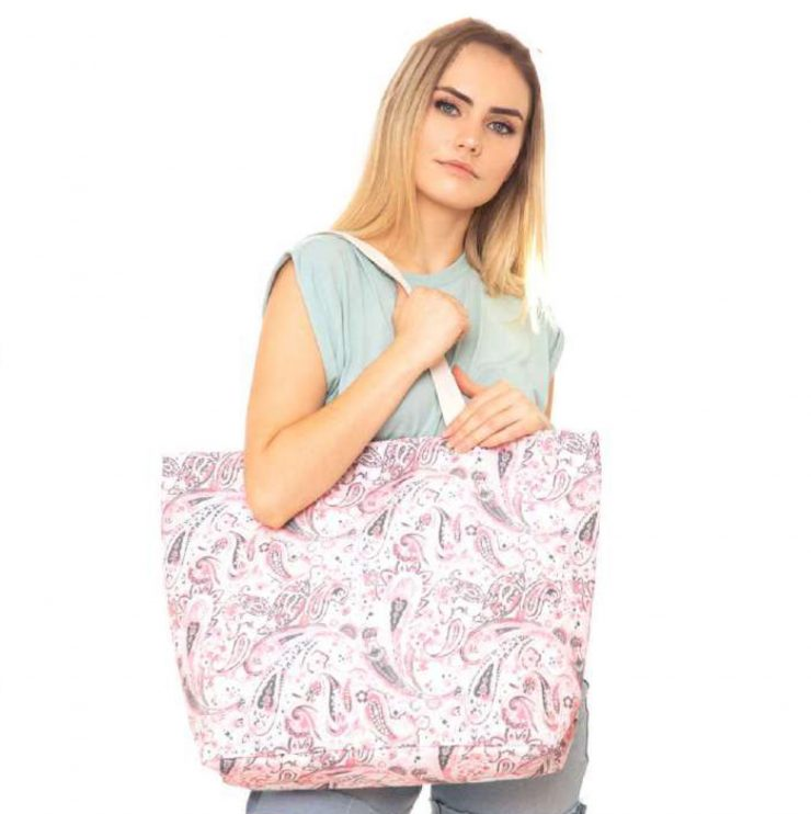 A photo of the Pink Paisley Tote product