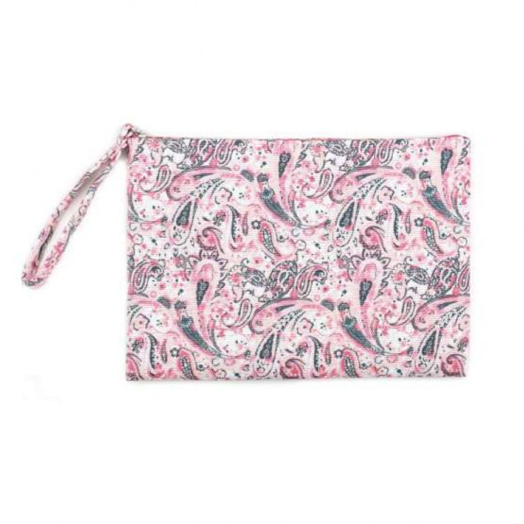 A photo of the Pink Paisley Wristlet product