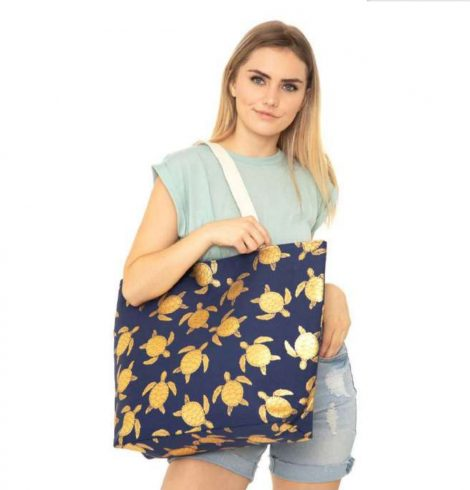 A photo of the Sea Turtle Tote In Navy product