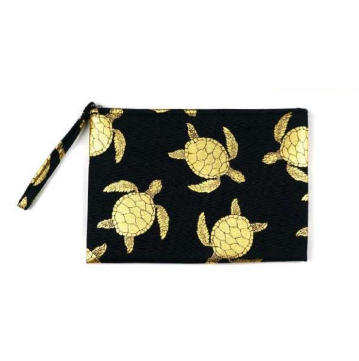 A photo of the Sea Turtle Wristlet In Black product