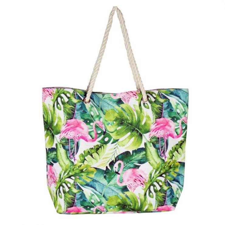 A photo of the Tropical Flamingo Tote product