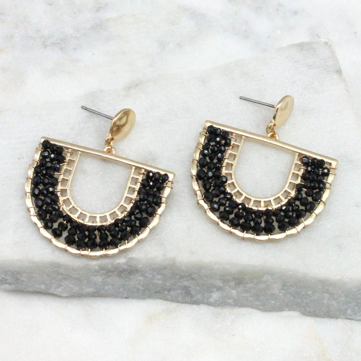 A photo of the Jasmine Earrings In Black product