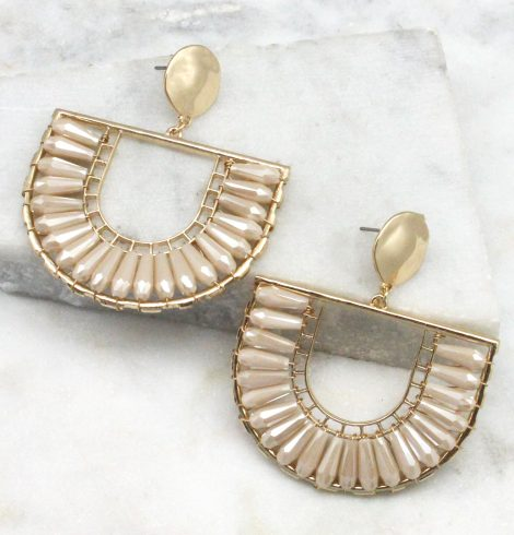 A photo of the The Angela Earrings In Ivory product