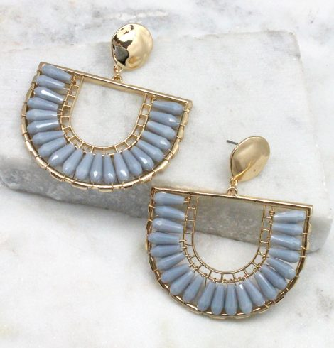 A photo of the The Angela Earrings In Periwinkle product