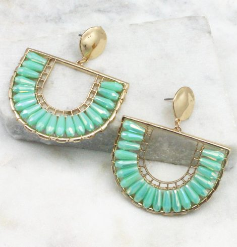 A photo of the The Angela Earrings In Mint product