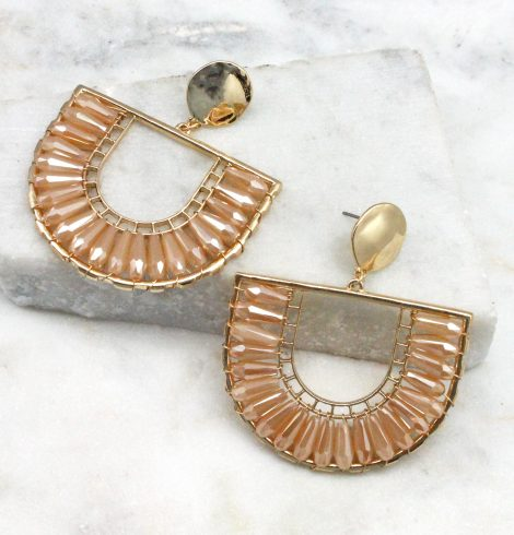 A photo of the The Angela Earrings In Peach product