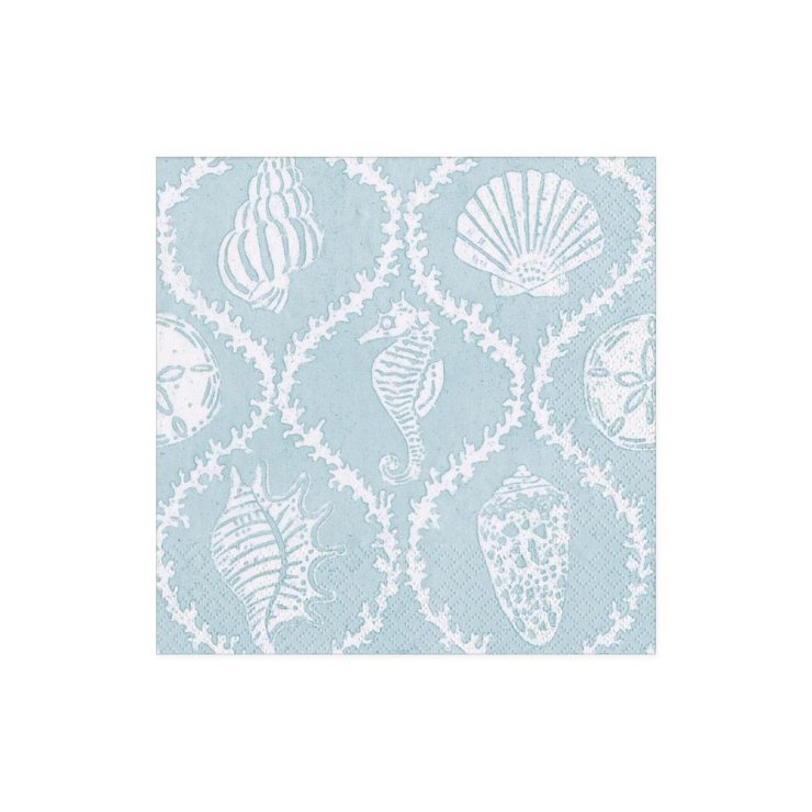 A photo of the Seychelles Cocktail Napkins in Aqua product