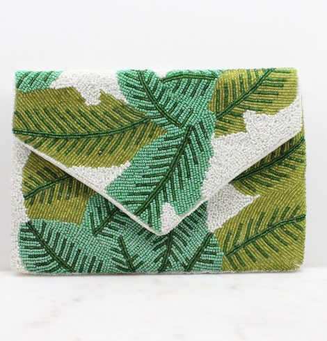 A photo of the Banana Leaf Clutch In White product